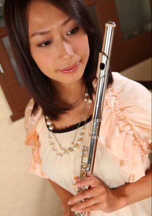 Legs of dame musician from Japan are undoubtedly the most beautiful body piece