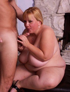 Real bbw with giant boobs fucked by well-set man after terrific tit and blow jobs